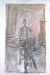 Seated Man 1949 by Alberto Giacometti 1901-1966